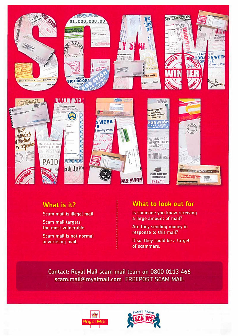 scam mail poster