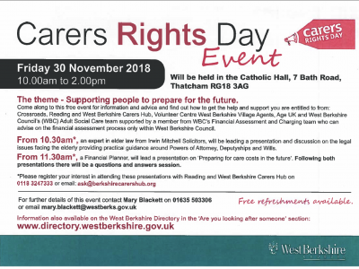 WBC Carers Day Event 30 November 2018